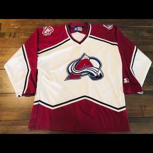 Vintage starter Colorado avalanche hockey jersey
